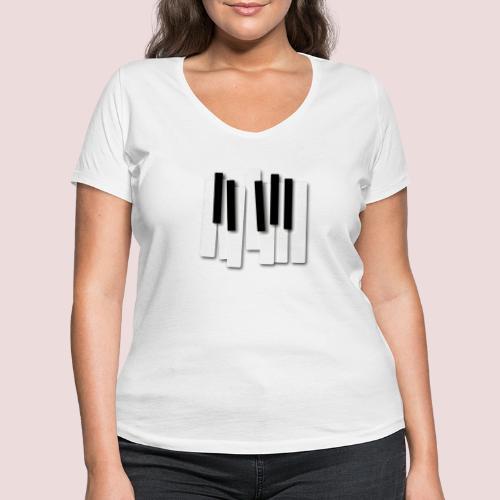 Klaviatur - Ekologisk T-shirt med V-ringning dam från Stanley & Stella