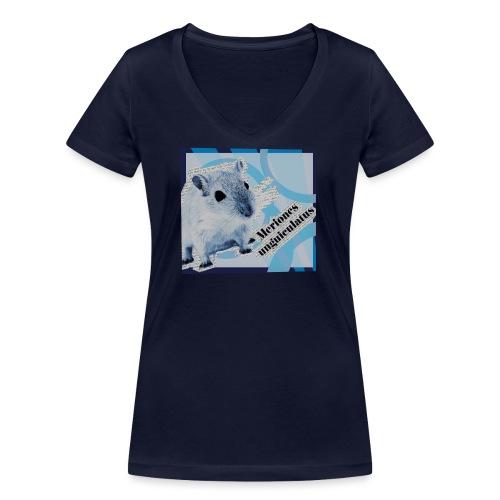 Gerbiili - Stanley & Stellan naisten v-aukkoinen luomu-T-paita