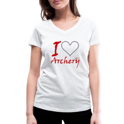 Archery Love - Frauen Bio-T-Shirt mit V-Ausschnitt von Stanley & Stella