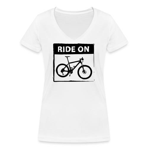 Ride On MTB 1 Color - Frauen Bio-T-Shirt mit V-Ausschnitt von Stanley & Stella