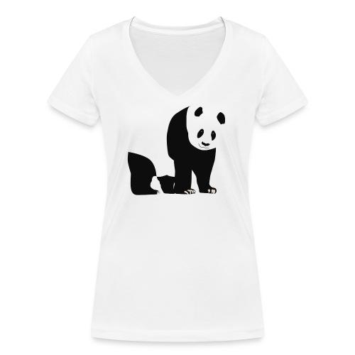 Panda - Stanley & Stellan naisten v-aukkoinen luomu-T-paita