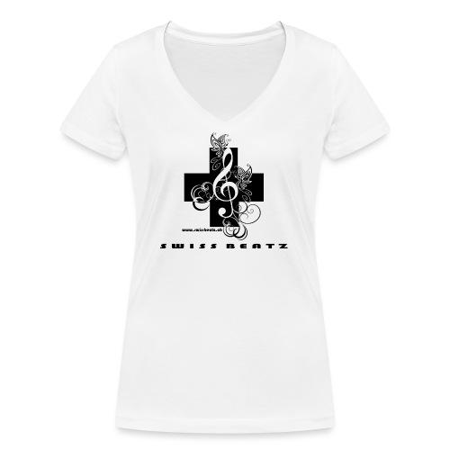 Swiss Beatz Logo with L - Frauen Bio-T-Shirt mit V-Ausschnitt von Stanley & Stella