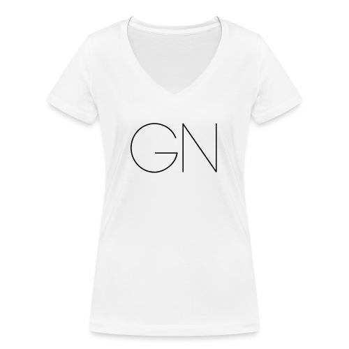 Långärmad tröja GN slim text - Ekologisk T-shirt med V-ringning dam från Stanley & Stella