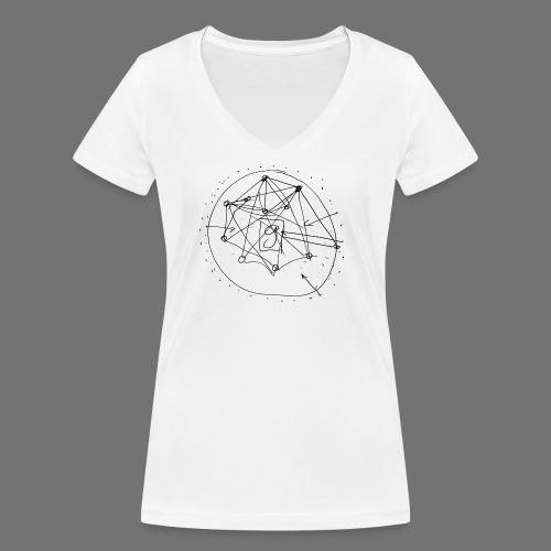 SEO strategia No.1 (musta) - Stanley & Stellan naisten v-aukkoinen luomu-T-paita
