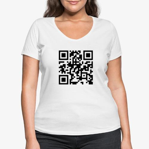 QR Code - Women's Organic V-Neck T-Shirt by Stanley & Stella