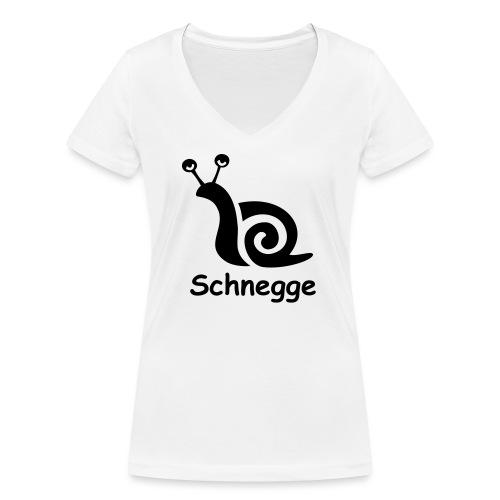 schnegge - Frauen Bio-T-Shirt mit V-Ausschnitt von Stanley & Stella