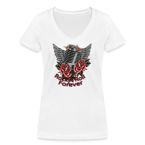 Rock'n'Roll Forever - Frauen Bio-T-Shirt mit V-Ausschnitt von Stanley & Stella