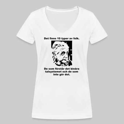Det finns 10 Typer - Ekologisk T-shirt med V-ringning dam från Stanley & Stella
