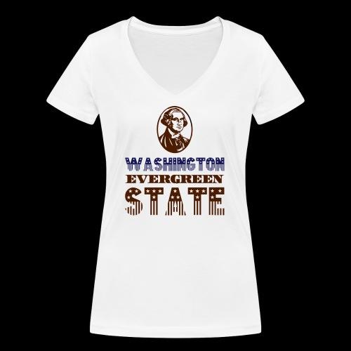 WASHINGTON EVERGREEN STATE - Women's Organic V-Neck T-Shirt by Stanley & Stella