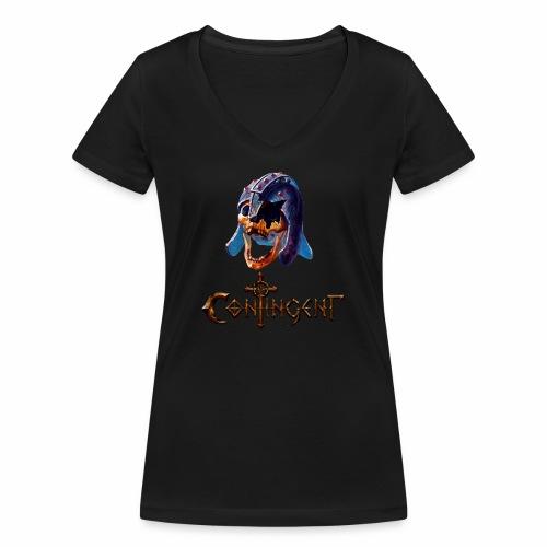 Contignent Logo - Women's Organic V-Neck T-Shirt by Stanley & Stella