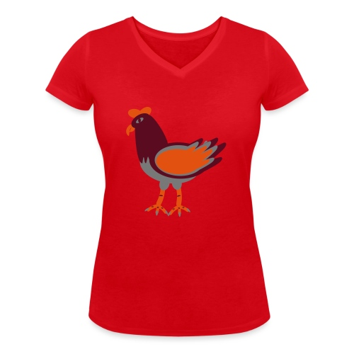 Cock.svg - T-shirt ecologica da donna con scollo a V di Stanley & Stella