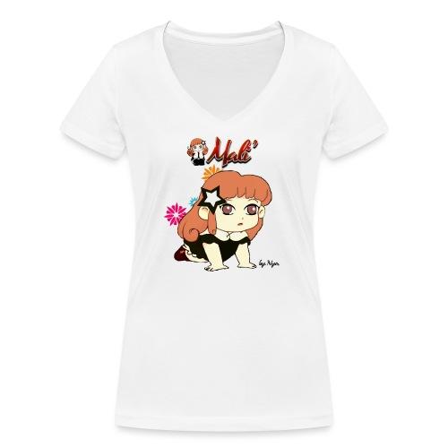MALI'-BAMBOLINA PORTAFORTUNA - T-shirt ecologica da donna con scollo a V di Stanley & Stella