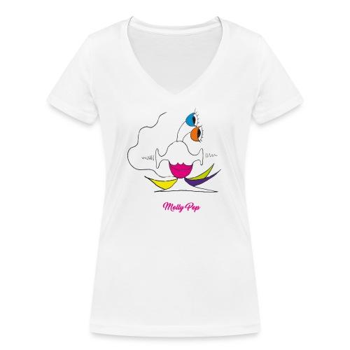Molly Pop - T-shirt bio col V Stanley & Stella Femme