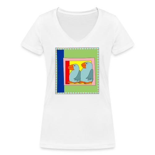 Colorart1 - T-shirt ecologica da donna con scollo a V di Stanley & Stella