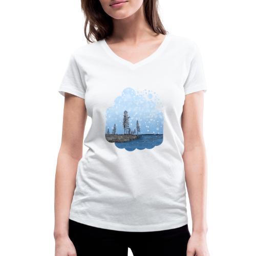 Première neige - T-shirt bio col V Stanley & Stella Femme