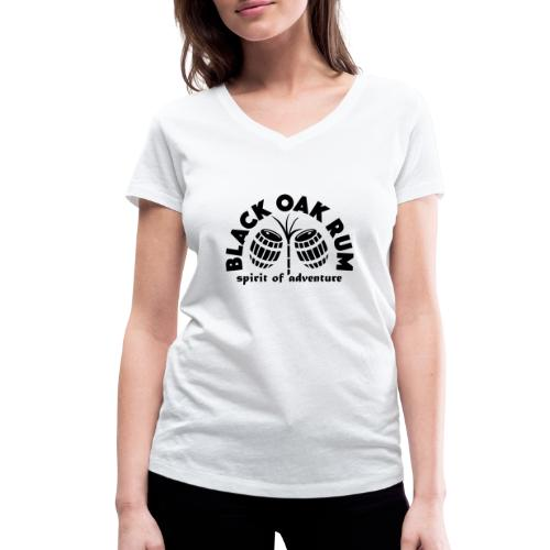 Black Oak Rum - Women's Organic V-Neck T-Shirt by Stanley & Stella