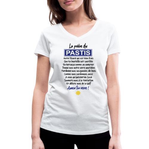 MA PRIERE DU PASTIS - T-shirt bio col V Stanley & Stella Femme