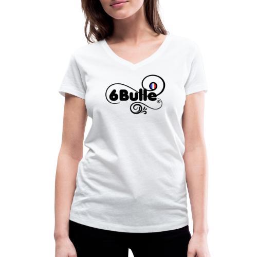 6bulle pour elle Bleu Blanc Rouge - T-shirt bio col V Stanley & Stella Femme