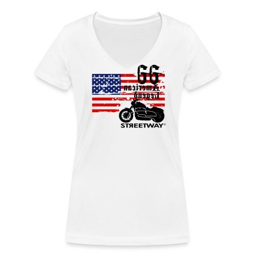 m033 - T-shirt bio col V Stanley & Stella Femme