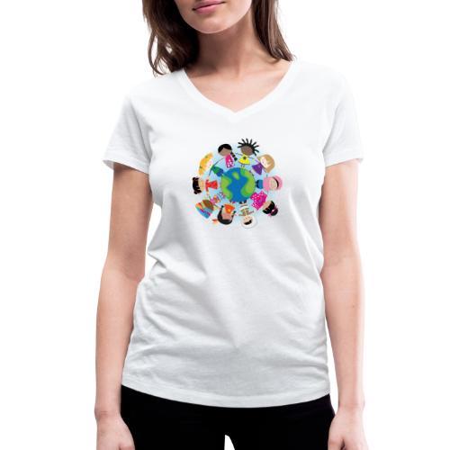 Happy Meitlis - Around the World - Frauen Bio-T-Shirt mit V-Ausschnitt von Stanley & Stella