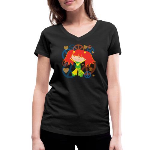 Happy Meitlis - Be Happy - Frauen Bio-T-Shirt mit V-Ausschnitt von Stanley & Stella