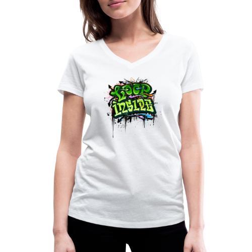 Loop INSIDE 😎 - Frauen Bio-T-Shirt mit V-Ausschnitt von Stanley & Stella