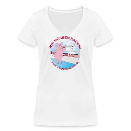 Metzgerei? WTF??? - Frauen Bio-T-Shirt mit V-Ausschnitt von Stanley & Stella