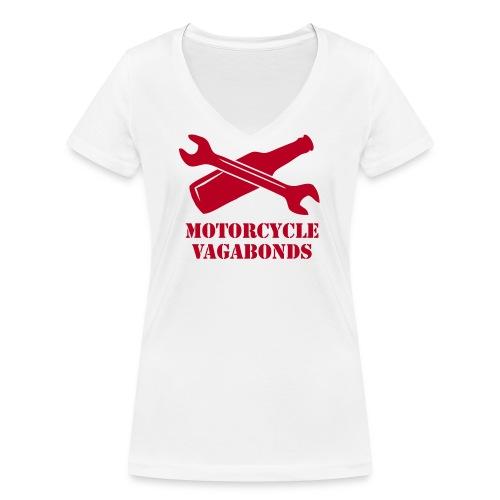 Motorcycle Vagabonds V1 - Women's Organic V-Neck T-Shirt by Stanley & Stella