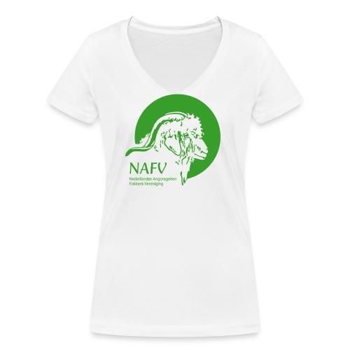 logo_NAFV - Vrouwen bio T-shirt met V-hals van Stanley & Stella