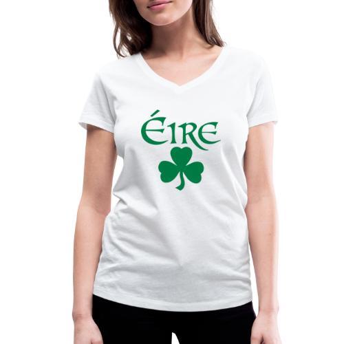 Eire Shamrock Ireland logo - Women's Organic V-Neck T-Shirt by Stanley & Stella