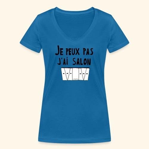 Je peux pas j'ai salon - T-shirt bio col V Stanley & Stella Femme