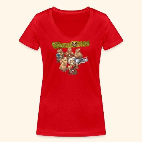 Tshirt groupe complet (dos) - T-shirt bio col V Stanley & Stella Femme