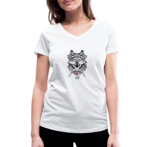 WOLF-PEDAELA - Camiseta ecológica mujer con cuello de pico de Stanley & Stella