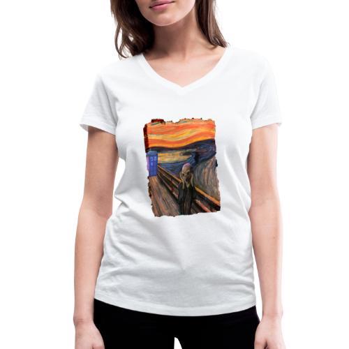Screaming Tardis - Women's Organic V-Neck T-Shirt by Stanley & Stella