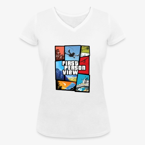 Ultimate Video Game - Women's Organic V-Neck T-Shirt by Stanley & Stella