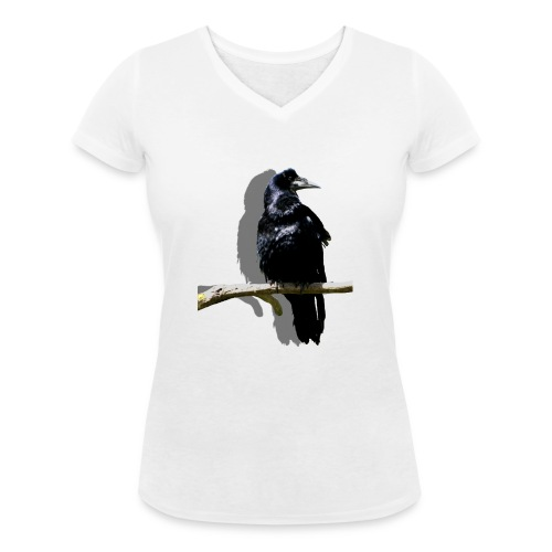 Rabenschwarz - Frauen Bio-T-Shirt mit V-Ausschnitt von Stanley & Stella