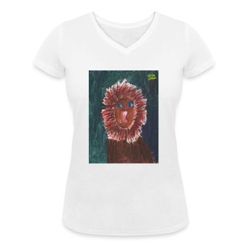 Lion T-Shirt By Isla - Women's Organic V-Neck T-Shirt by Stanley & Stella