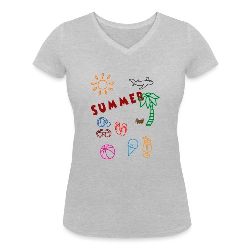 Summer - Stanley & Stellan naisten v-aukkoinen luomu-T-paita