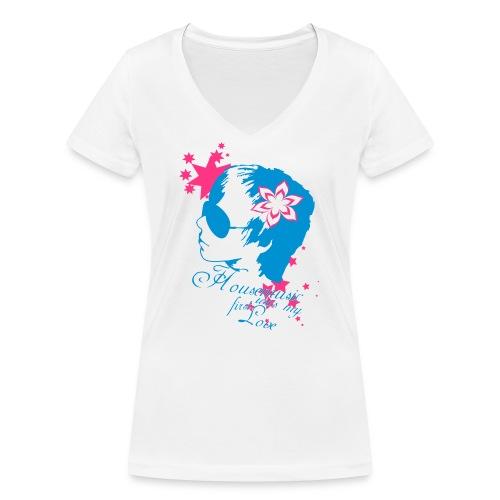 Housemusic was - Frauen Bio-T-Shirt mit V-Ausschnitt von Stanley & Stella