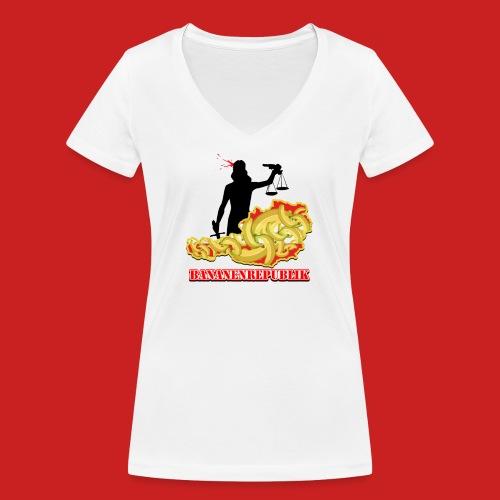 Bananen Republik Österreich - Frauen Bio-T-Shirt mit V-Ausschnitt von Stanley & Stella
