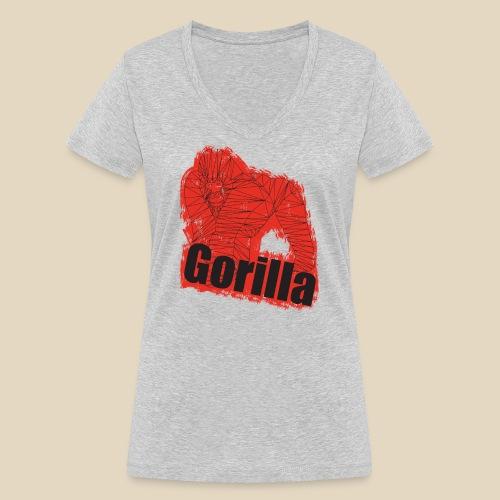 Red Gorilla - T-shirt bio col V Stanley & Stella Femme