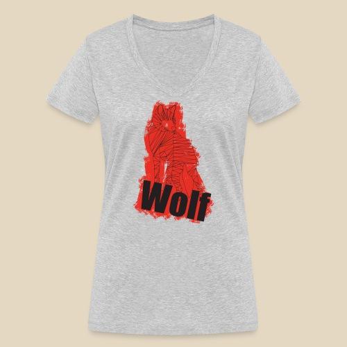 Red Wolf - T-shirt bio col V Stanley & Stella Femme