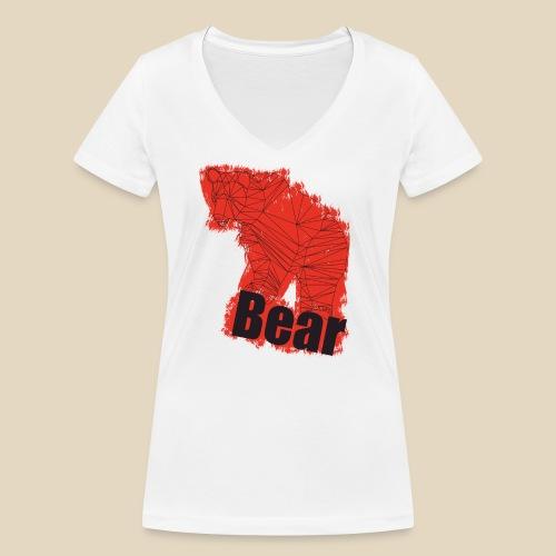 Red Bear - T-shirt bio col V Stanley & Stella Femme