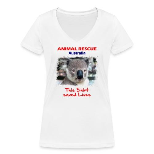 Australien KOALA RESCUE - Spendenaktion - Frauen Bio-T-Shirt mit V-Ausschnitt von Stanley & Stella
