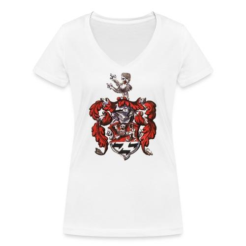 WappenEbelingAlemann1599 - Frauen Bio-T-Shirt mit V-Ausschnitt von Stanley & Stella