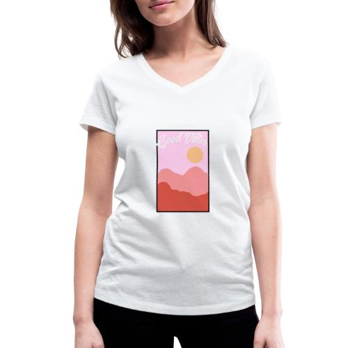 Good vibes - Vrouwen bio T-shirt met V-hals van Stanley & Stella
