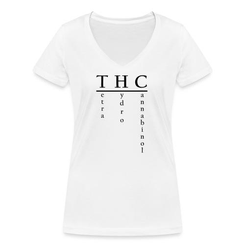 THC-Tetrahydrocannabinol - Frauen Bio-T-Shirt mit V-Ausschnitt von Stanley & Stella