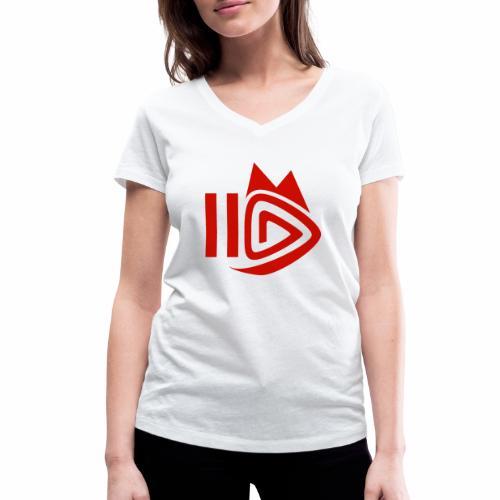 HitFuchs.FM logo - Women's Organic V-Neck T-Shirt by Stanley & Stella