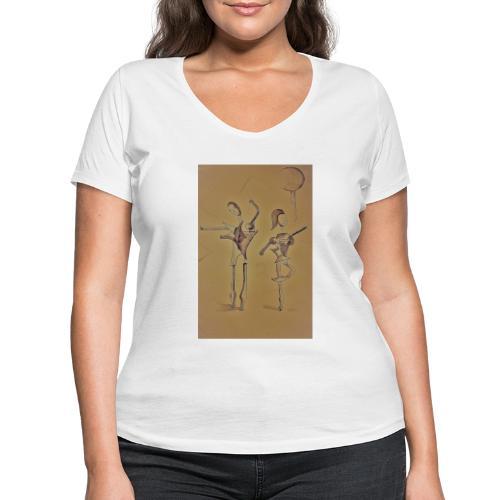 Ballo - sepia - T-shirt ecologica da donna con scollo a V di Stanley & Stella