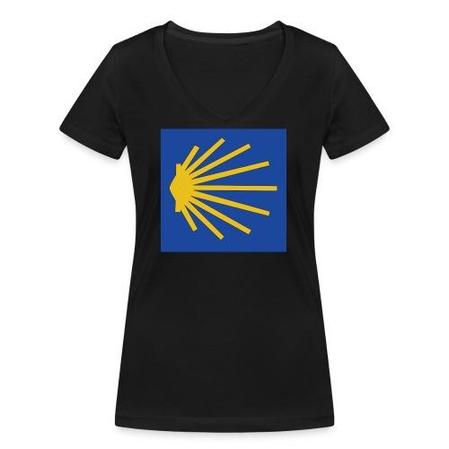 Muschel Wegweiser - Frauen Bio-T-Shirt mit V-Ausschnitt von Stanley & Stella
